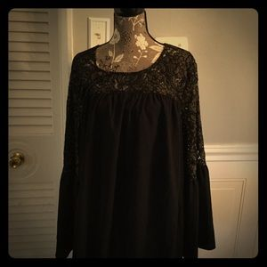 Black Flowy and Lacy top